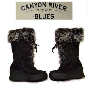 Canyon River Blues | High Calf Faux Fur Boots sz.7